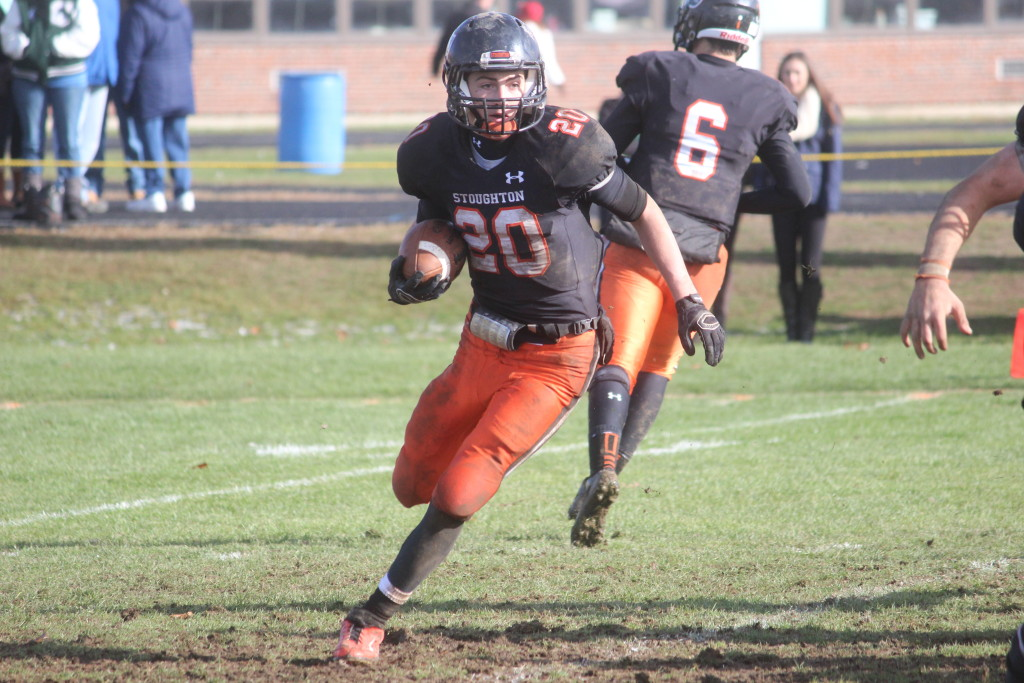 After finding the endzone nine times last season, Stoughton junior Ryan Sullivan will be a top offensive threat in the league this year. (Ryan Lanigan/HockomockSports.com)