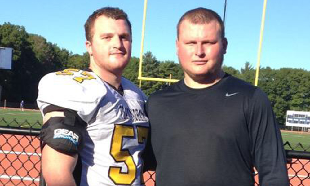 Framingham State's Joe Wilder and Westfield State's Pat Raeke, friends and former Stoughton teammates, went head to head this weekend. (Courtesy photo)