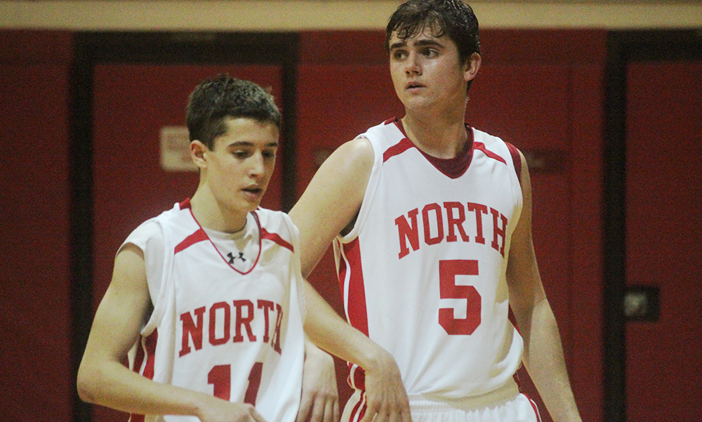 North Attleboro has high hopes for the season with Brent Doherty, Ridge Olsen (5) and many more experienced players back. (Ryan Lanigan.HockomockSports.com)