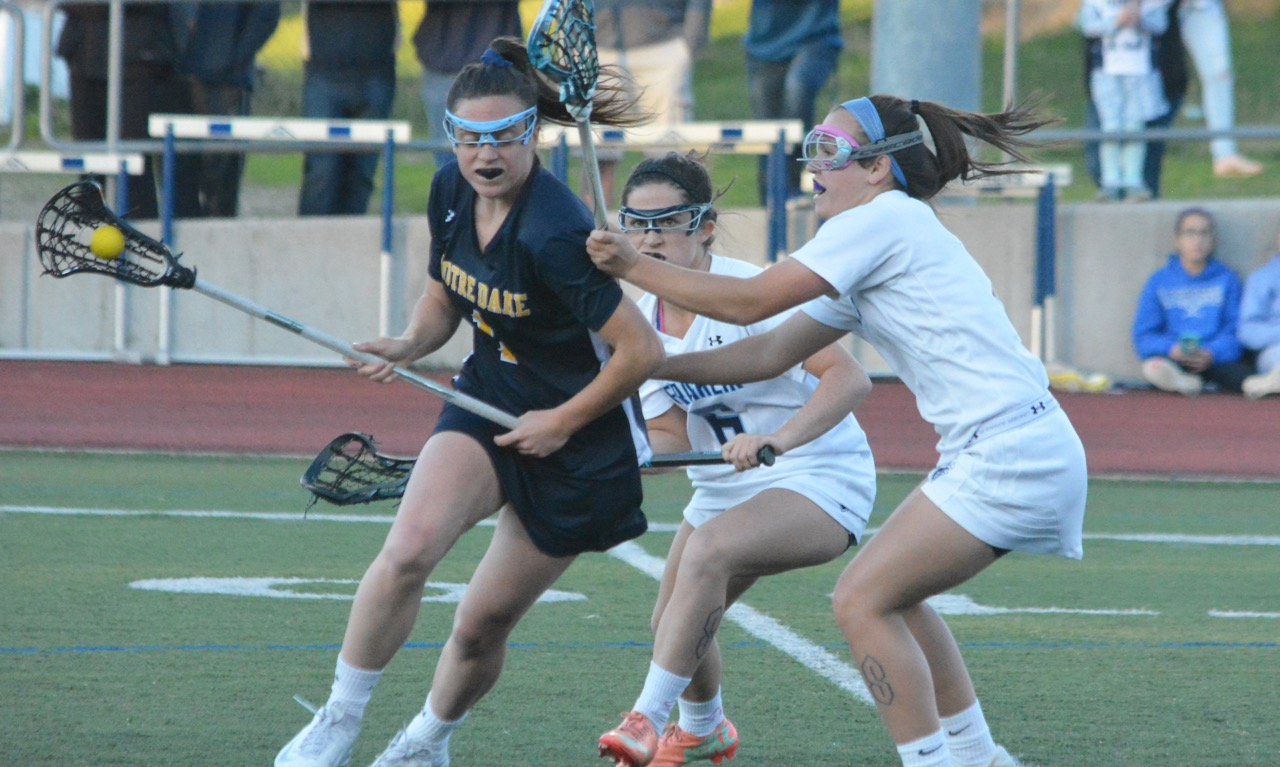 Franklin struggled to contain the NDA attack on Monday night, falling to the top ranked Cougars 15-4. (Josh Perry/HockomockSports.com)