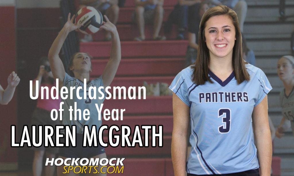 Franklin sophomore Lauren McGrath: the 2016 HockomockSports.com Volleyball Underclassman of the Year