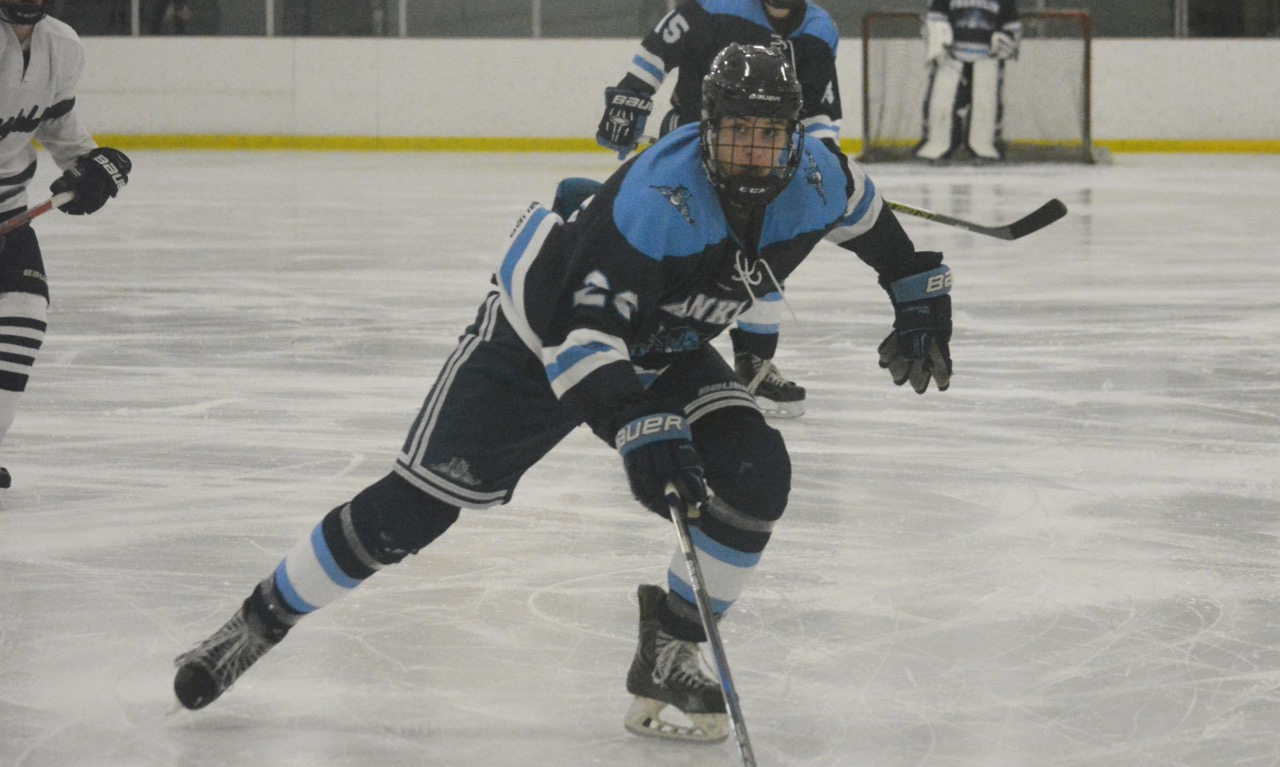 Brendan O'Rielly scored a pair of goals to help Franklin bounce back and avoid a two-game losing streak in the league with a 5-2 win over Mansfield. (Josh Perry/HockomockSports.com)