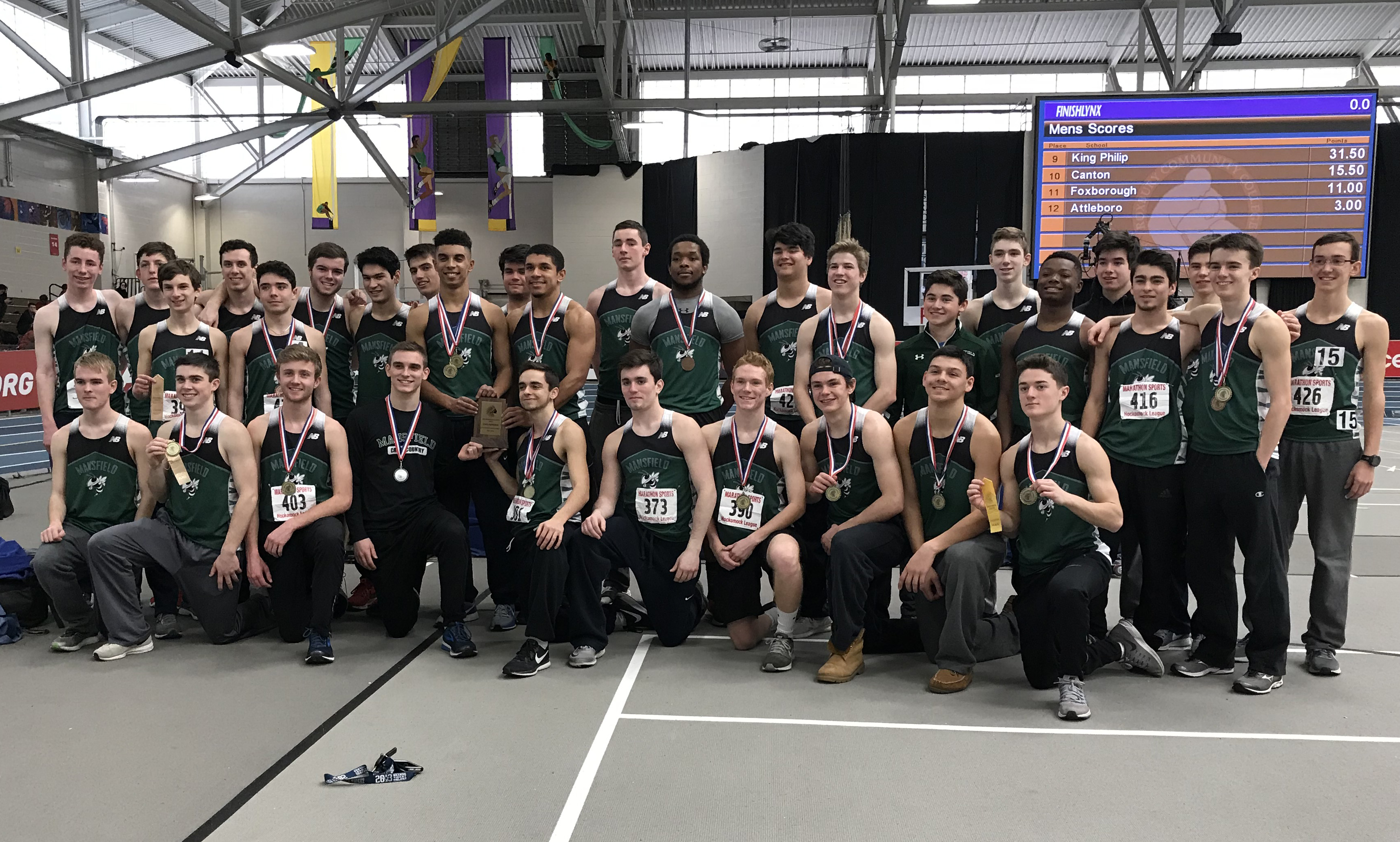 Hockomock League Indoor Track Championships 2018