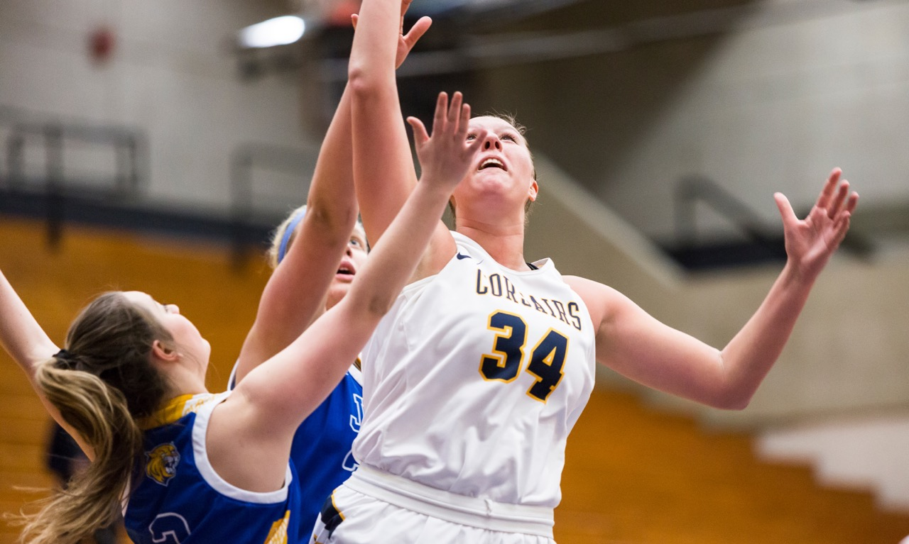 Former Franklin High standout Alicia Kutil broke a 32-year-old career scoring record at UMass Dartmouth in a win against Eastern Connecticut. With a late three Kutil surpassed the old mark of 1,323 points for her career. (Paris Felogloy/UMass Dartmouth)