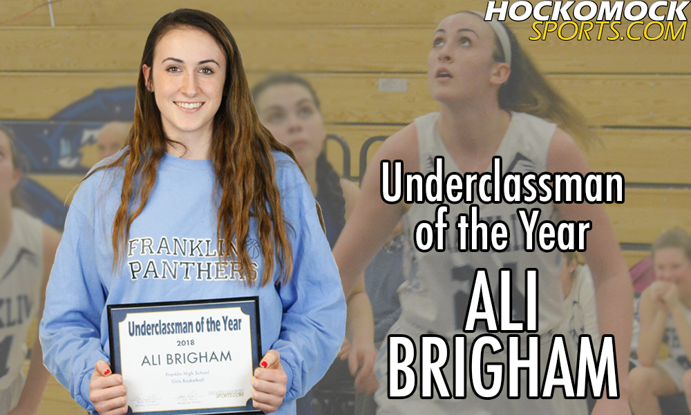Ali Brigham was chosen as Underclassman of the Year (HockomockSports.com photo)