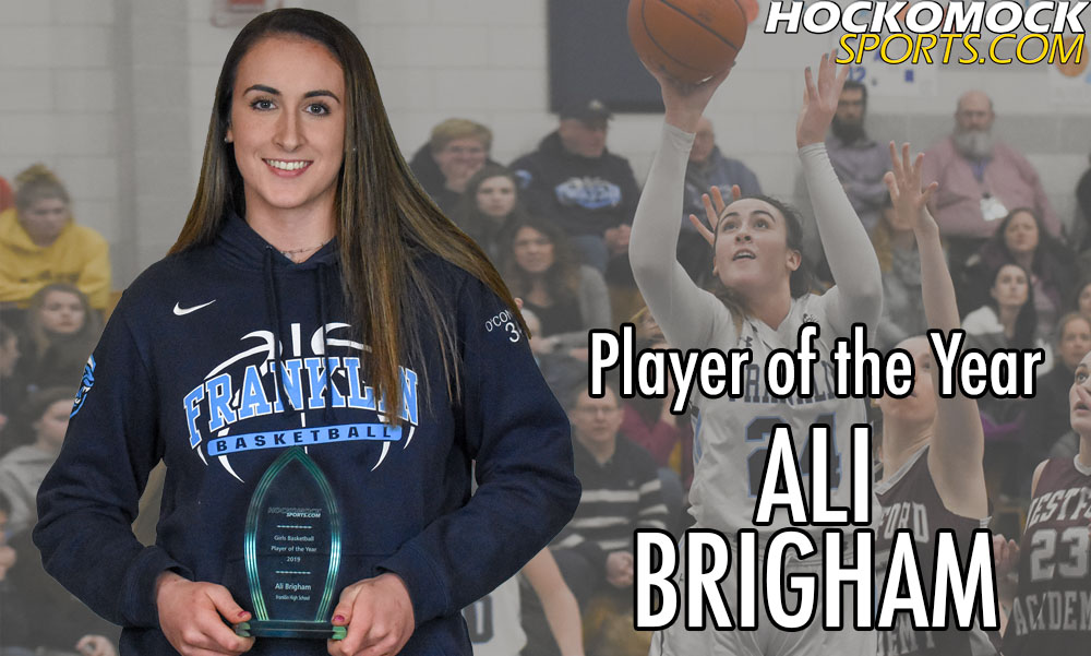 Ali Brigham has been named the 2019 HockomockSports.com Girls Basketball Player of the Year (HockomockSports.com photo)