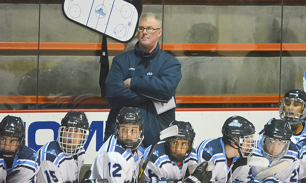 Franklin hockey coach Chris Spillane has announced that he is stepping down after 21 years of coaching at his alma mater. He won 14 league titles, a state championship, and reached the Super 8 during his tenure. (Josh Perry/HockomockSports.com)